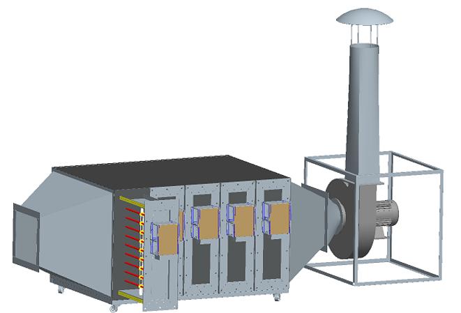 微波无极紫外光解技术净化大风量低浓度废气
